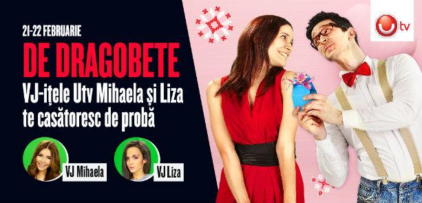 DRAGOBETE: Vj-itele UTV, Mihaela si Liza, sunt cupidonii indragostitilor din Ploiesti Shopping City