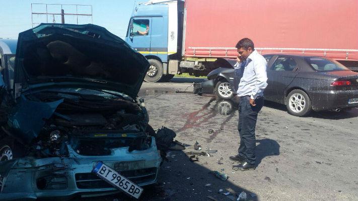 Accident grav pe DN1, centura de Vest a municipiului Ploiesti, cu opt victime (galerie foto)