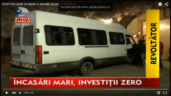 Protest la sediul SALROM, din Bucuresti, din cauza liftului defect de la Salina Slanic