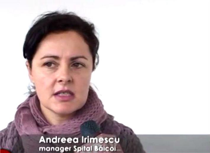 Andreea Irimescu, manager al Spitalului Baicoi,  a fost declarata în stare de incompatibilitate
