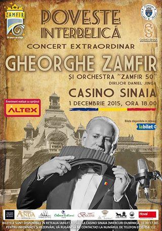 Gheorghe Zamfir canta, de Ziua Nationala a Romaniei, la Casino Sinaia