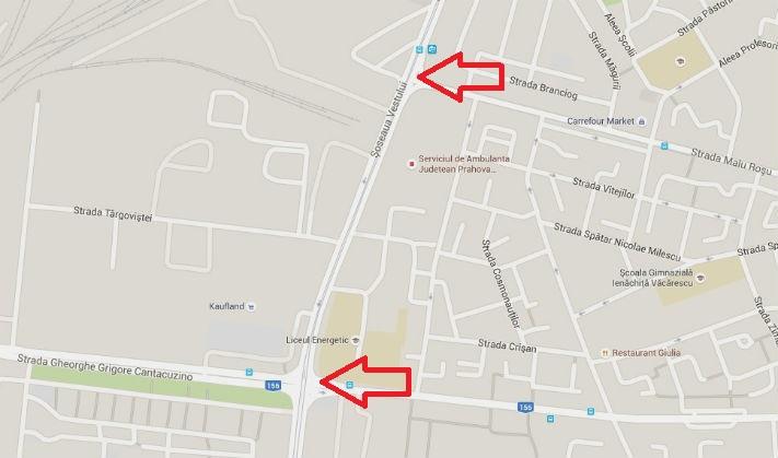 Ploiesti: Circulatie blocata pe Soseaua Vestului, intre strada Gh. Gr. Cantacuzino si strada Malu Rosu