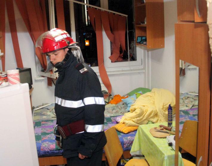 Explozie intr-un camin de nefamilisti din Mizil