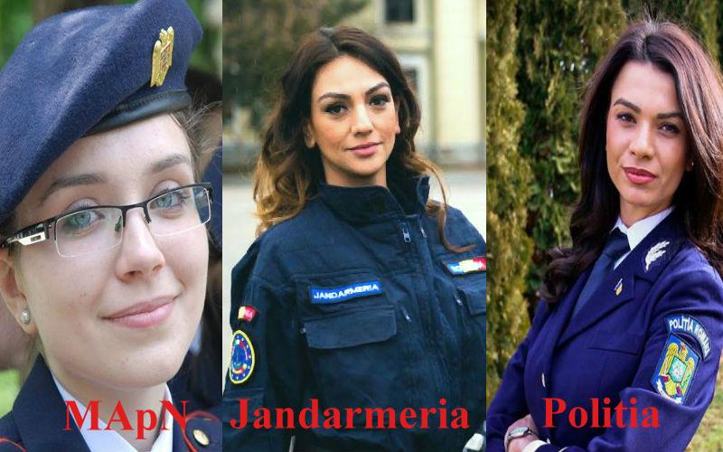 Voi cu cine votati? Ministerul Apararii, Jandarmeria si Politia Romana se intrec in frumuseti