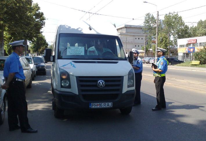 Politistii Locali din Ploiesti au inceput sa verifice traficul de microbuze si autoutilitare