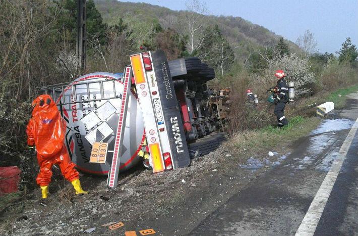 Procurorii din Campina au un dosar penal in lucru, pentru accidentul de pe DN1, cu o persoana decedata