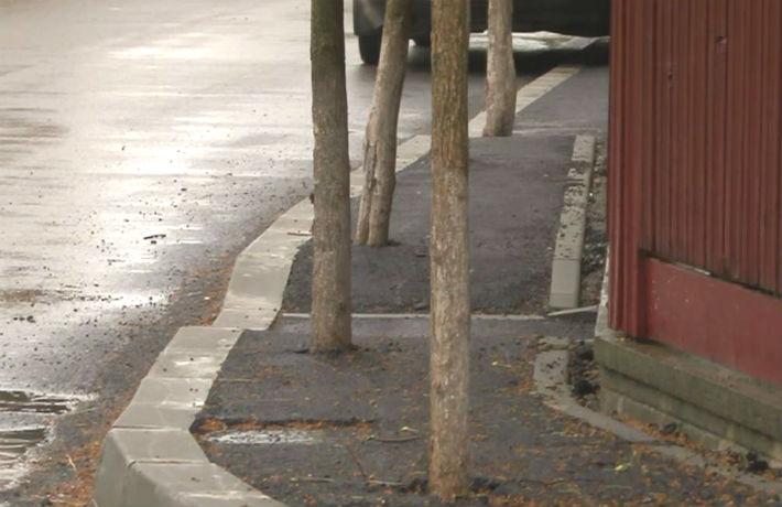 Dorel loveste din nou, in Prahova! La Breaza a aparut trotuarul cu pomi, unde oamenii nu incap