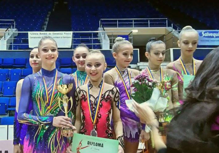 Echipa de gimnastica ritmica de la CSM Ploiesti a luat locul II la Campionatul National