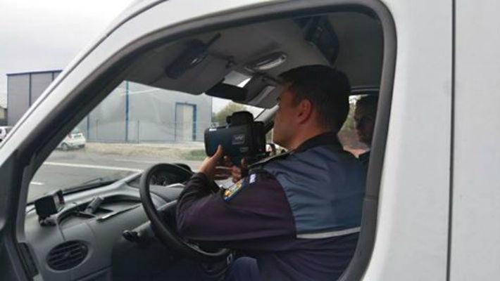 radar pistol TruCAM Politia Rutiera Prahova