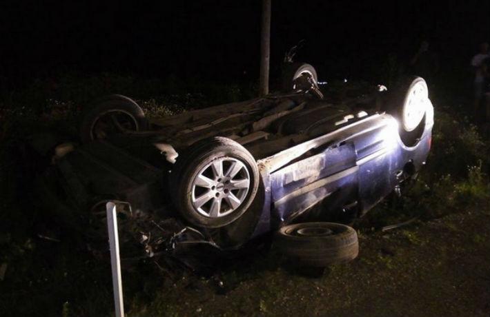 Accident pe DN1 – Centura de Vest a municipiului Ploiesti. O masina s-a rasturnat dupa impact