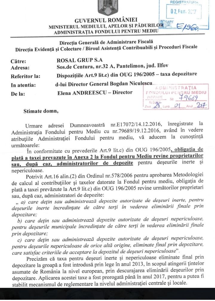 Ministerul Mediului - taxa fondul de mediu 1