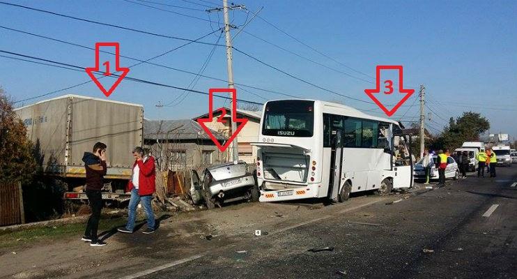 Prahova: Accident infiorator la Romanesti, pe DN1. Doi pasageri au murit, alti opt au fost raniti grav (FOTO)