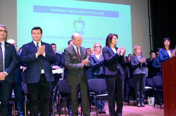 Traian Basescu si-a dat girul pentru noua conducere a PMP Prahova
