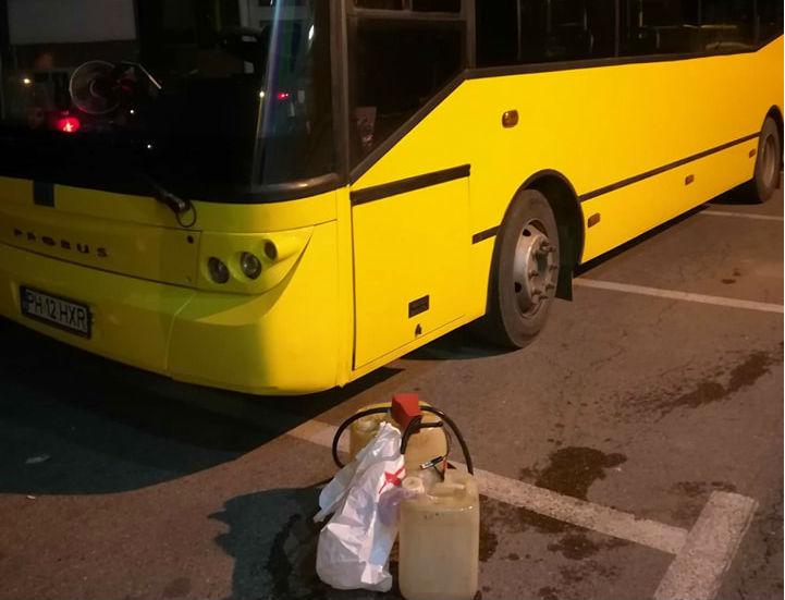 Inca un sofer de autobuz apartinand TCE Ploiesti, prins furand combustibil de catre jandarmi (FOTO,VIDEO)