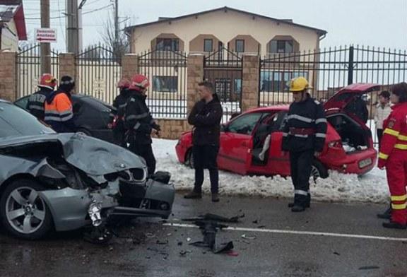 Accident rutier la intrarea din Centura de Vest a DN1 spre Strejnic