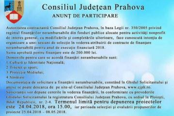 Consiliul Judetean Prahova anunta ca va distribui fonduri pentru ONG, prin concurs de selectie