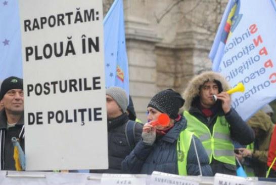 Proteste, sambata, in Capitala. Politistii, angajatii din penitenciare si medicii anatomo-patologi vor mai multi bani!