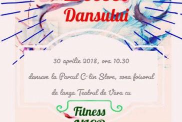 """Fete frumoase, fitness si muzica de Ziua Dansului, la Parcul Memorial """"Constantin Stere"""" din Bucov"""